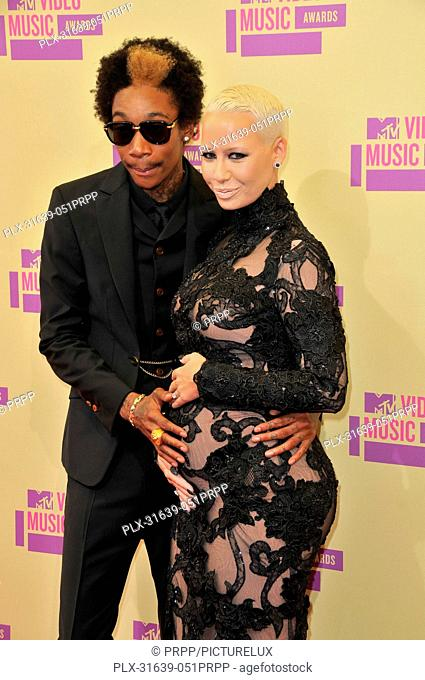 Wiz Khalifa and Amber Rose at 2012 MTV Video Music Awards held at the Staples Center in Los Angeles, CA. The event took place on Thursday, September 6, 2012