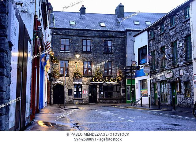 Abbeygate street of Galway, Ireland