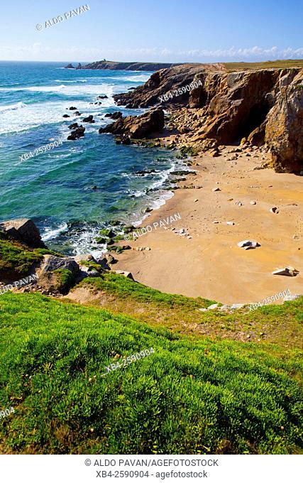 Beach of Cote Sauvage, Presqu'île de Quiberon, Brittany, France