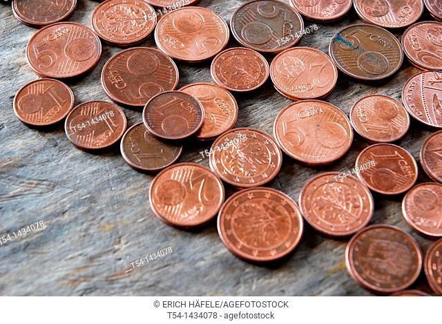 € cent copper coins