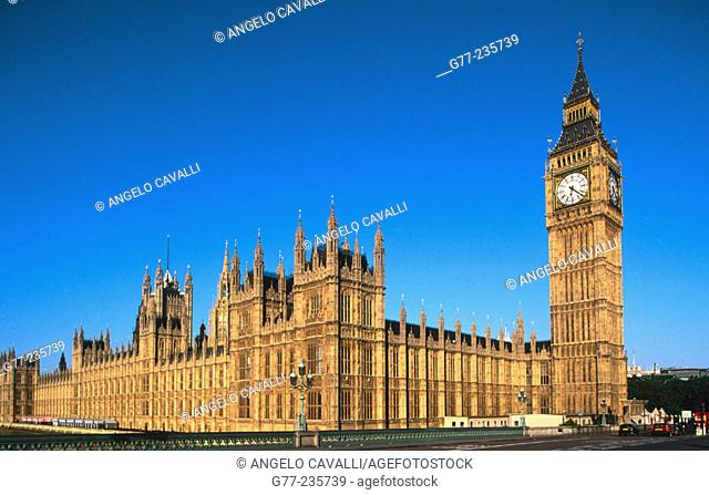 The Big Ben and the Houses of Parliament. London. England. UK