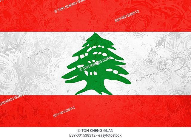 Flag of Lebanon grunge texture