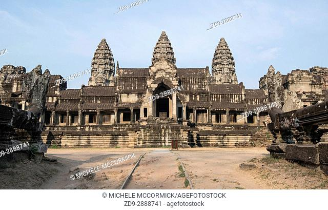 An entrance to to vast complex at Angkor Wat