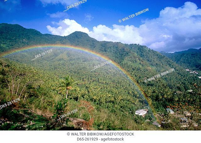 Rainbow at Colombette. Soufriere. Santa Lucia. West Indies. Caribbean