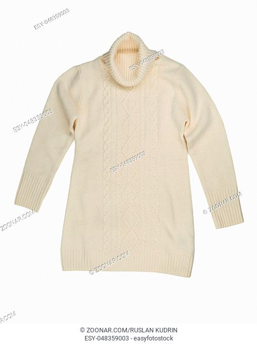 Light knitted sweater. Isolate on white