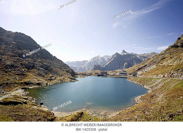 Italian side, Great Saint Bernard Pass, Colle del Gran San Bernardo, Col du Grand Saint-Bernard, 2469 m, Switzerland, Italy, Europe