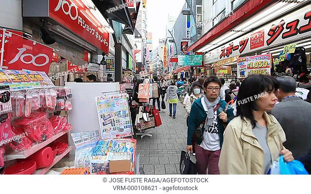 Japan, Tokyo City, Ueno District , Ueno shopping streets