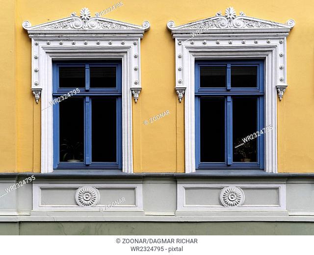 Stucco windows in Klaipeda
