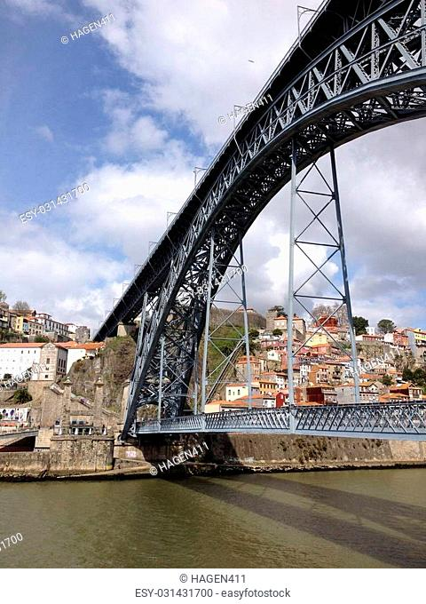 View of the bridge of Porto, Portugal