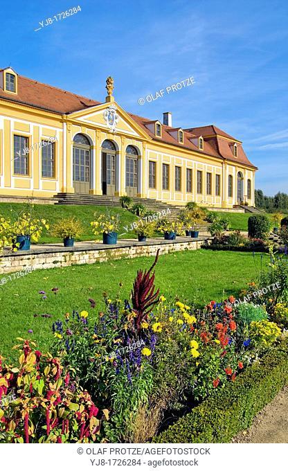 Upper Orangerie, Baroque Garden Grosssedlitz near Dresden, Saxony, Germany
