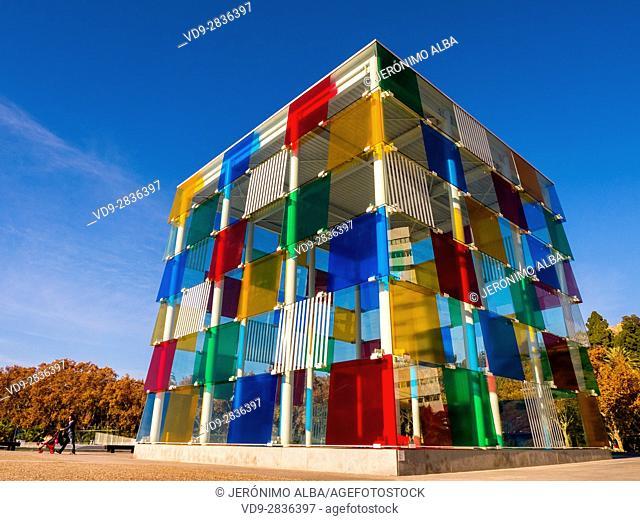 Centre Pompidou Museum modern art. Costa del Sol, Malaga. Andalusia southern Spain. Europe