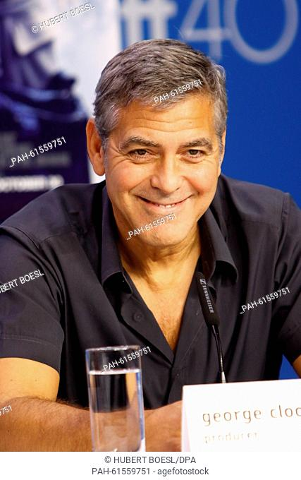 Producer George Clooney attends the press conference of Our Brand Is Crisis during the 40th Toronto International Film Festival, TIFF