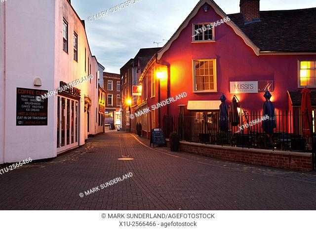 Museum Street at Dusk Colchester Essex England