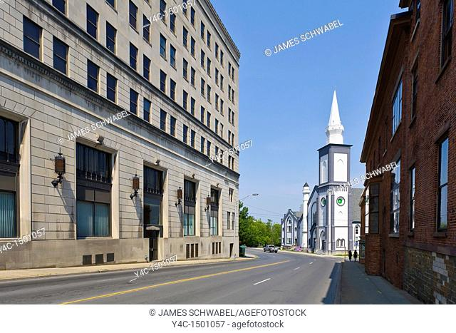 Court Street in downtown Utica New York