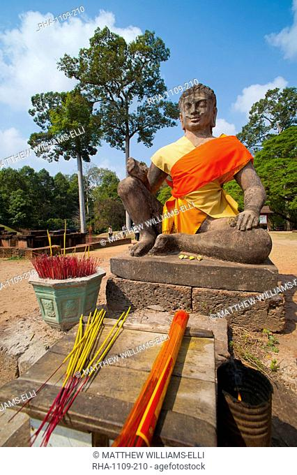 Buddha statue on the Terrace of the Leper King, Angkor, UNESCO World Heritage Site, Siem Reap, Cambodia, Indochina, Southeast Asia, Asia