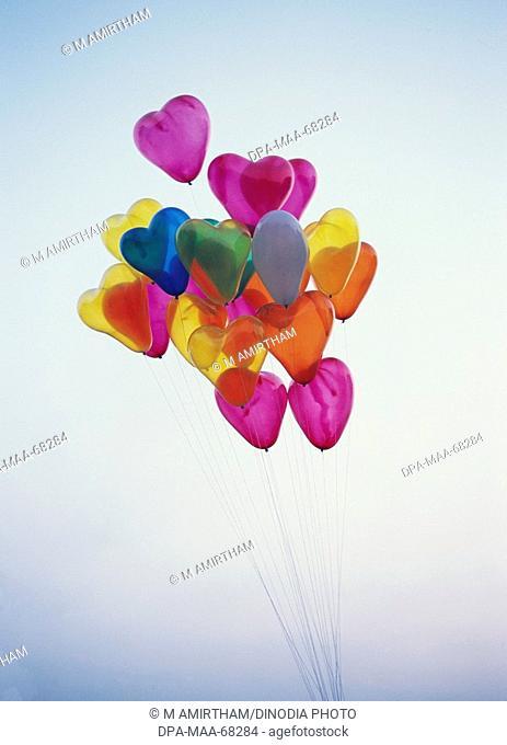 Balloons in heart shape