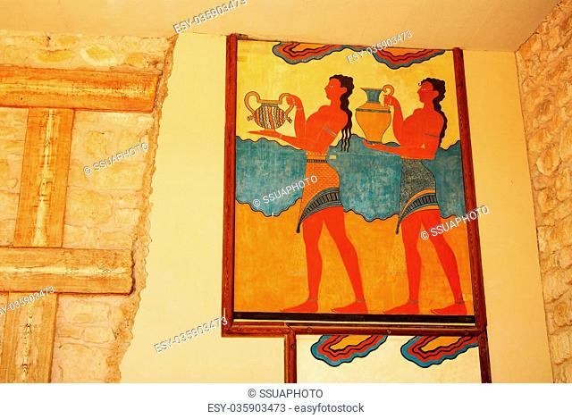 part of palace in Knossos