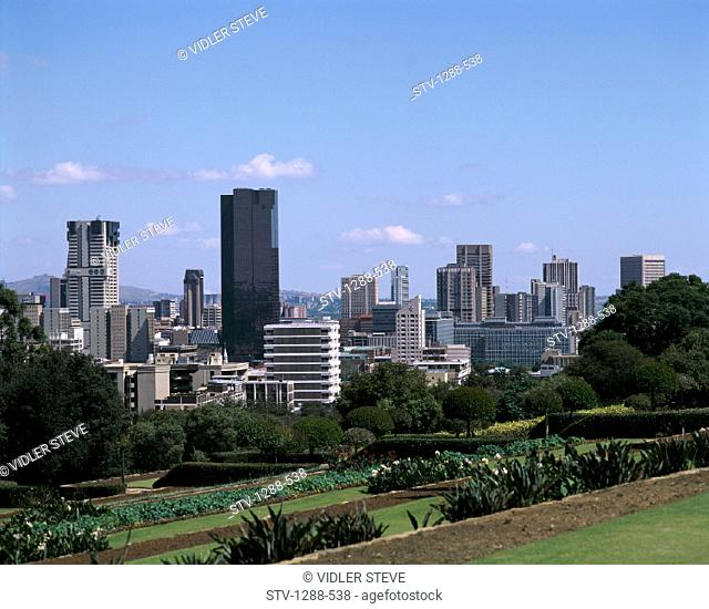 Buildings, City, Crowded, Holiday, Landmark, Plants, Pretoria, Skyline, Skyscrapers, South africa, Africa, Tourism, Travel, Tree