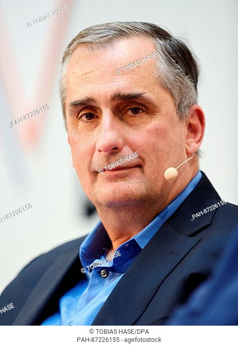 Brian Krzanich, CEO of the chip manufacturer Intel, speaks during the DLDconference in Munich, Germany, 15 January 2017
