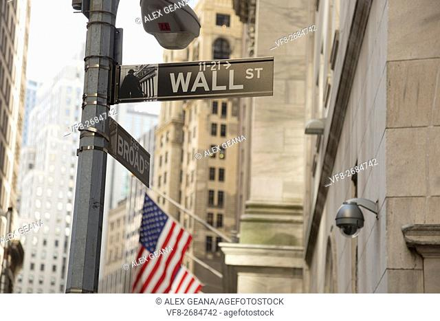 The iconic street in New York has become the symbol for money, power and finance. The new signage was part of a recent move to update city streets