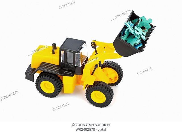 Toy loader and puzzle