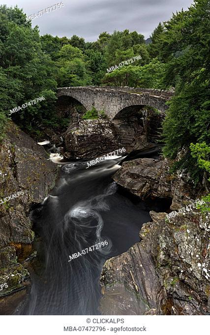 The Telford bridge, Invermoriston, Scotland, Europe