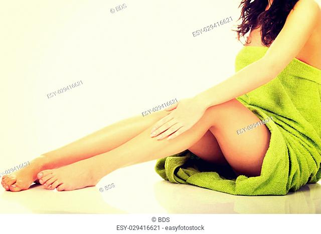 Well groomed female legs after depilation