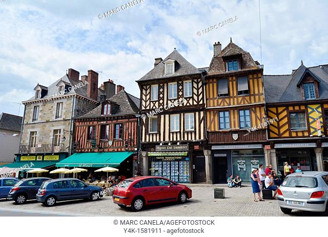 Europe, France, Bretagne Brittany Region, Dol de Bretagne City, Typical medieval building