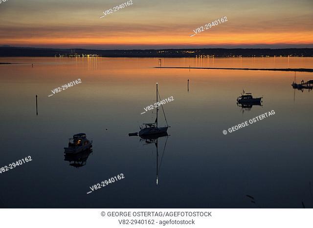 Admiralty Inlet sunset, Fort Flagler State Park, Washington
