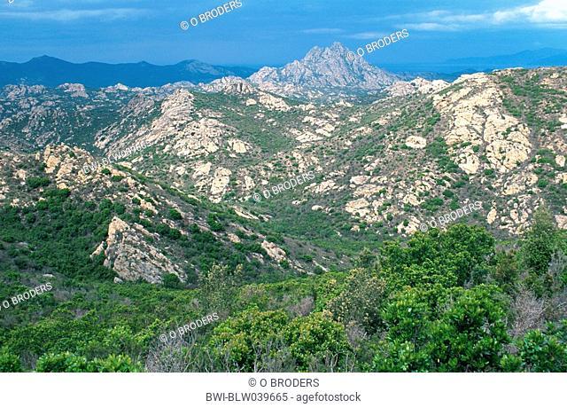 rock desert, France, Corsica, Nebbio, Mai 04