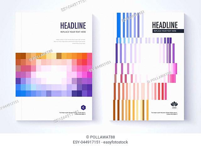 Company profile template. Cover design. Vector template background