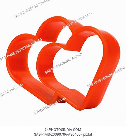 Close-up of a heart shaped cookie cutter