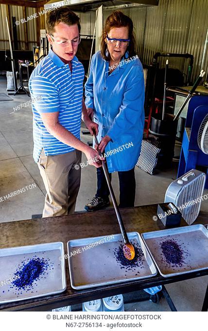 Glassblowing at Garden City Glass, Jewell Gardens, Skagway, Alaska USA