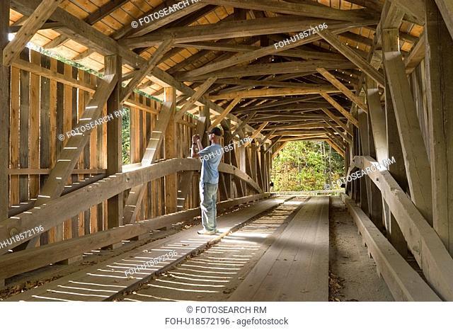 this 97 foot burr truss covered bridge several