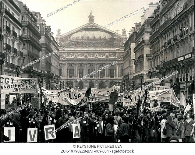Feb. 28, 1979 - Bank Insurance Employees Strike Paris (Credit Image: © Keystone Press Agency/Keystone USA via ZUMAPRESS.com)