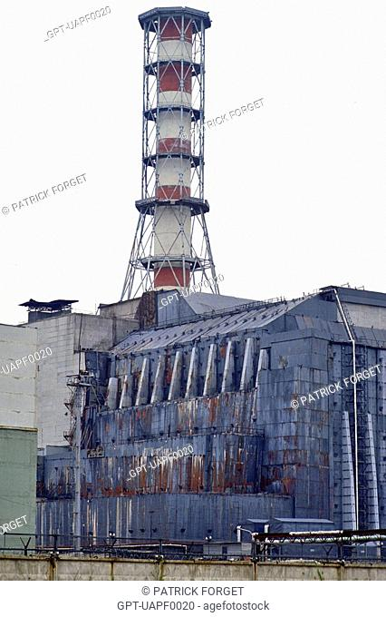 SARCOPHAGUS AROUND THE REACTOR NUMBER 4, CHERNOBYL NUCLEAR POWER PLANT, UKRAINE
