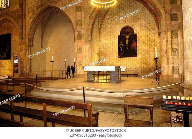 relics of Saint Thomas Aquinas Jacobins church in Toulouse, France