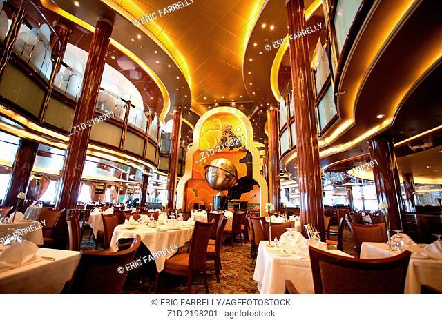 "Elegant and stylish restaurant architecture aboard Cunard's """"Queen Victoria"""""