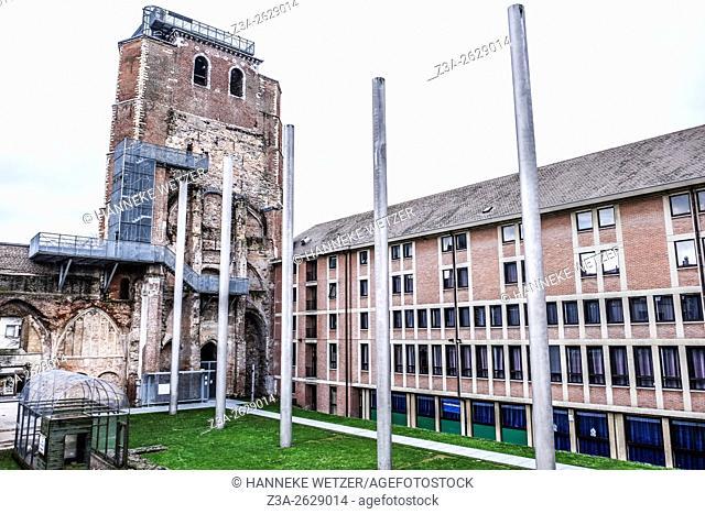 Historical architecture in St-Truiden, Belgium, Europe