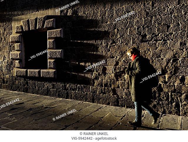 ESP , SPAIN : The Old city Barri Gotic in Barcelona , 02.01.2018 - Barcelona, Catalonia, Spain, 02/01/2018