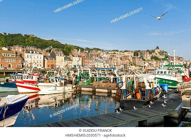 France, Seine Maritime, Le Treport, the fishing harbour