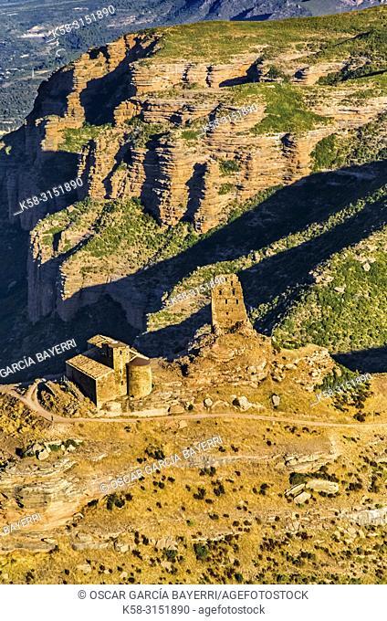 Sarsamarcuello ruins, Loarre, Navarre, Spain