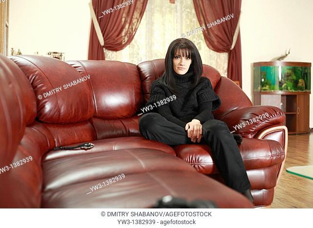 Portrait of Caucasian women resting in the laiser chair
