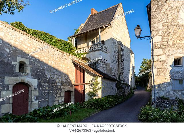 Porte-Bigot Street at Crissay-sur-Manse, Labeled The Most Beautiful Villages of France. Indre-et-Loire, Centre region, Loire valley, France, Europe