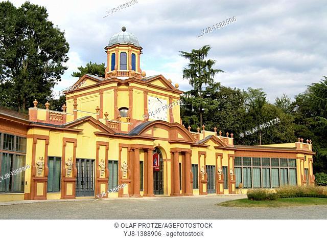 Palazzina dei Giardini pubblici at the historical town centre of Modena, North Italy