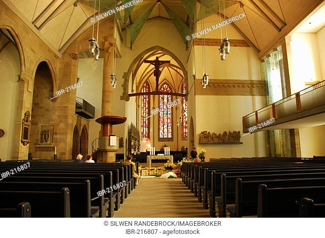Refurbished interior Stiftskirche Stuttgart Baden Wuerttemberg Germany