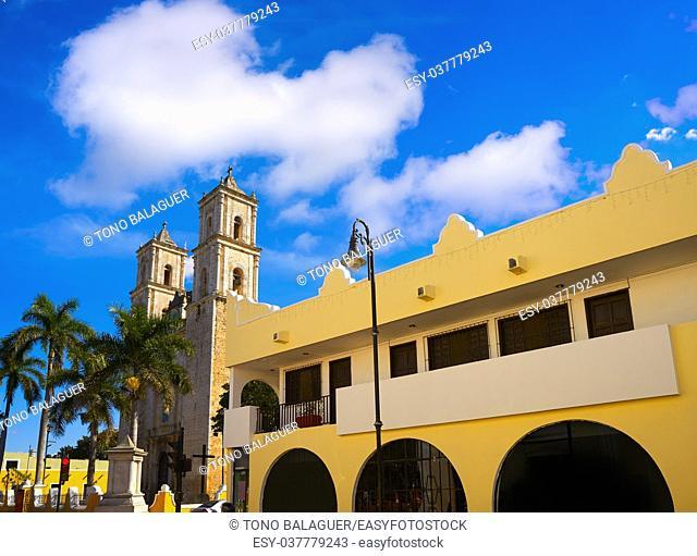 Valladolid San Gervasio church of Yucatan in Mexico