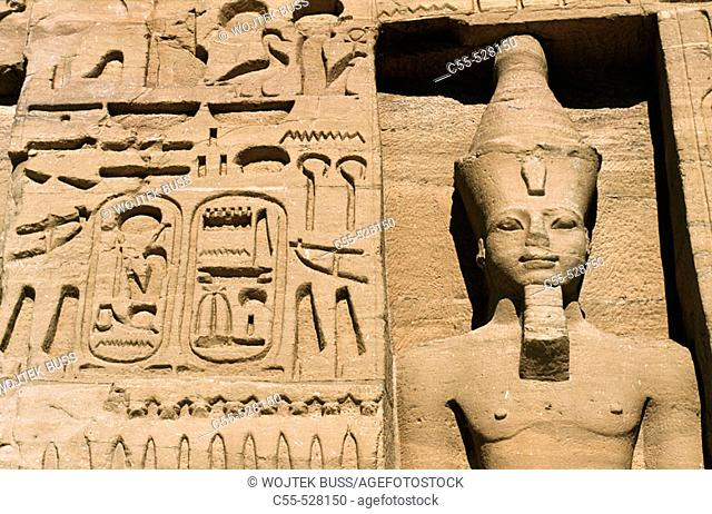 Temple dedicated to Hathor (smaller Abu Simbel temple), Abu Simbel. Egypt