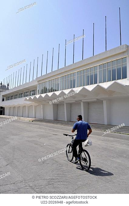 Lido di Venezia, Italy, the Cinema Festival Palace, deserted in low season