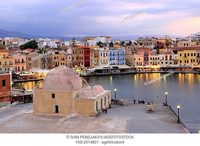 Chania Venetian Harbour, Crete, Greece